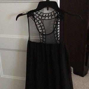 NEW Black racerback mesh swing dress from Macy's